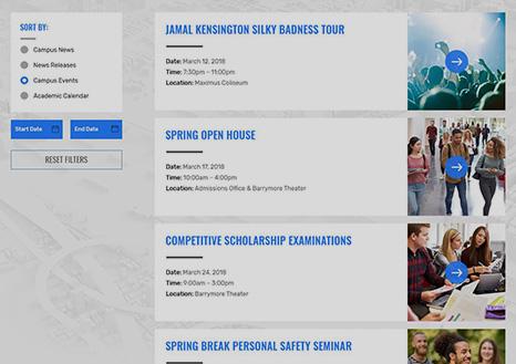 Events Calendar Overview