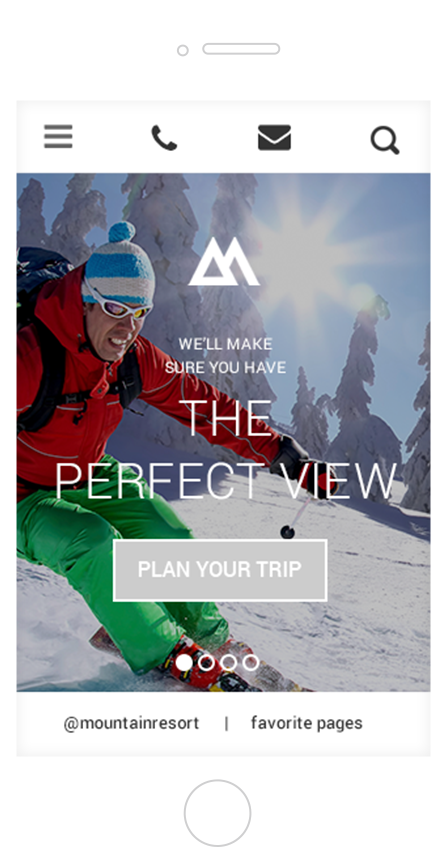 Mobile View of Mountain Resort Theme