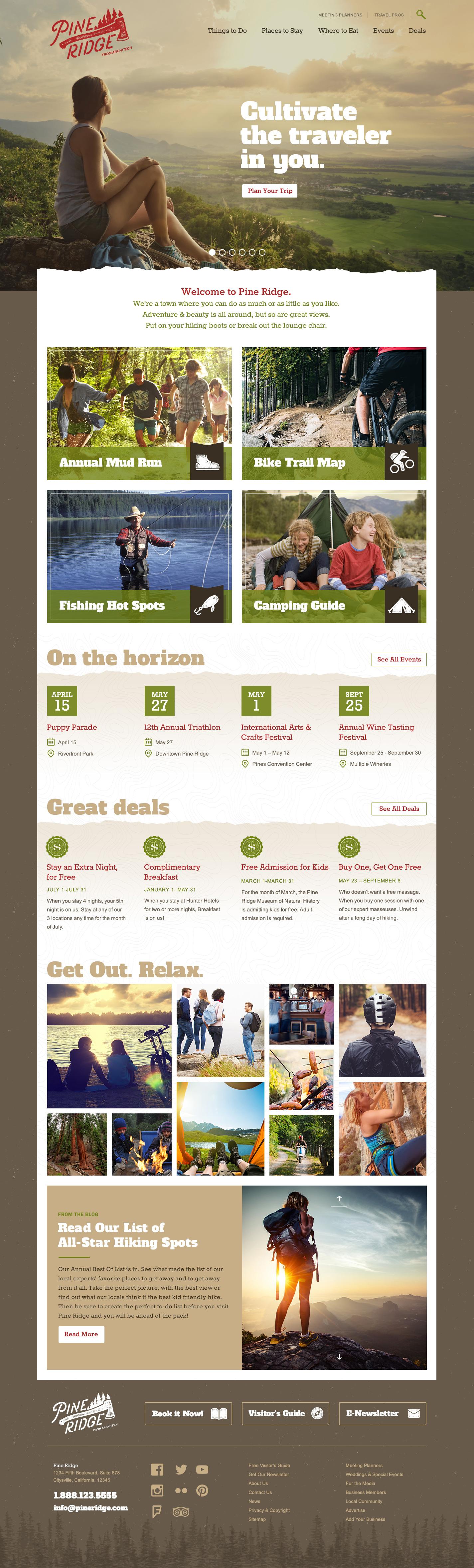 Pine Ridge Theme Homepage Desktop Preview