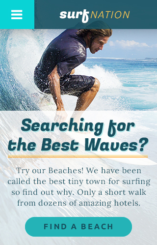 Surf Nation Theme Homepage Mobile Preview