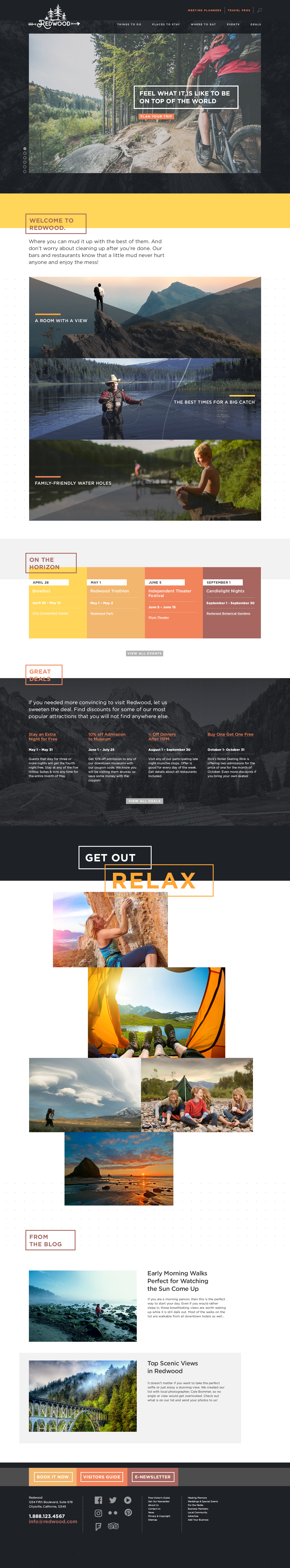 Redwood Theme Homepage Desktop Preview