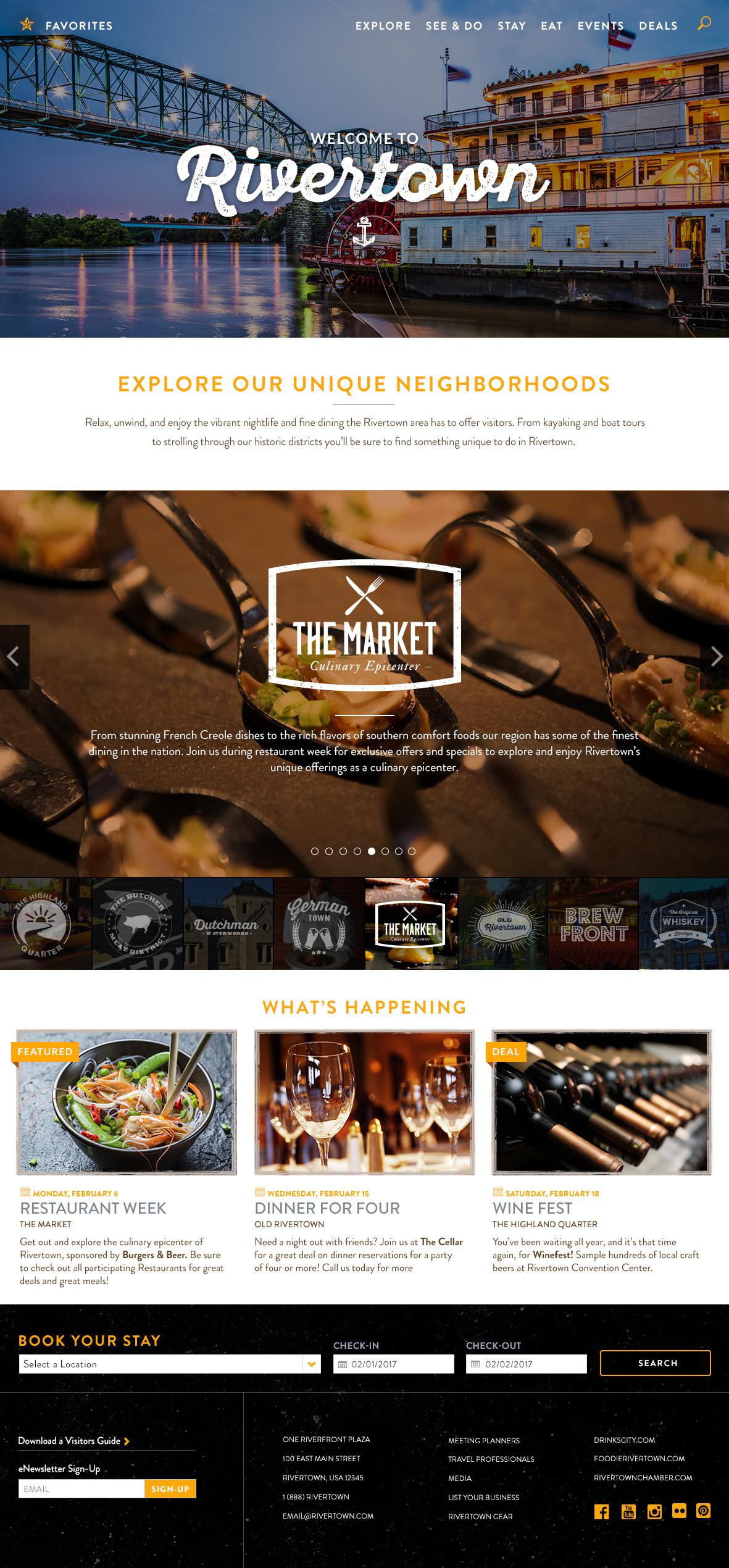 Rivertown Theme Homepage Desktop Preview