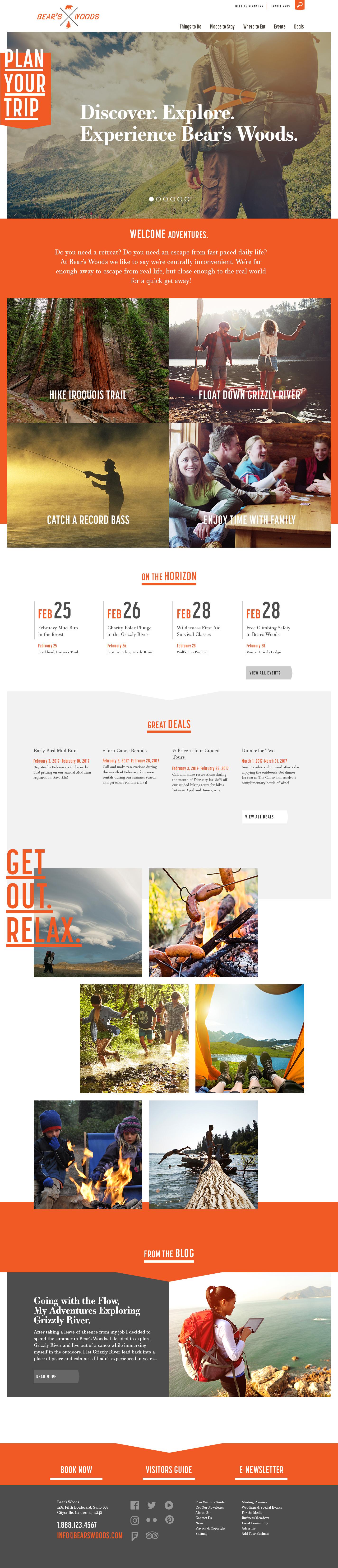 Bears Woods Theme Homepage Desktop Preview