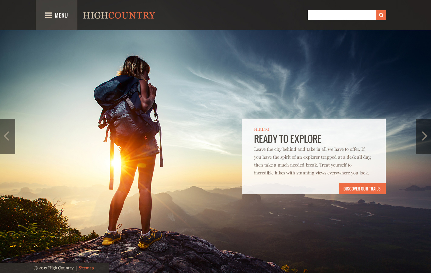 High Country Theme Homepage Desktop Preview