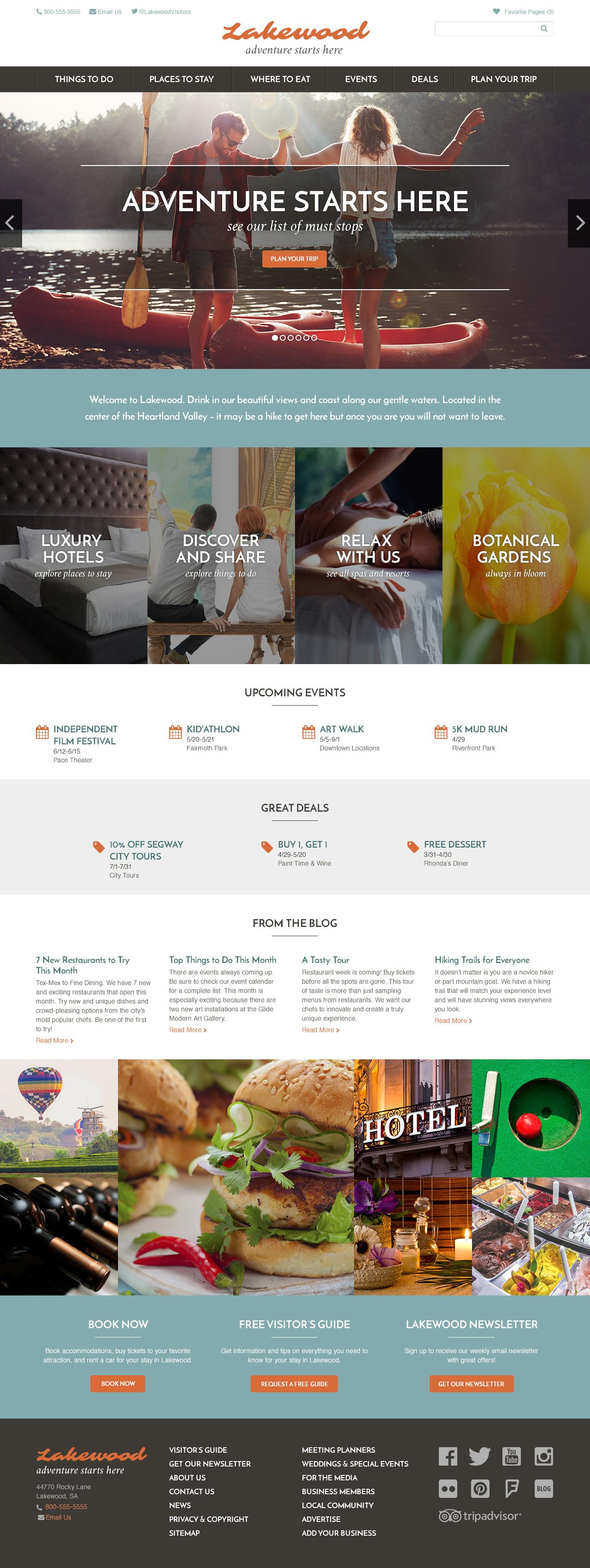 Lakewood Theme Homepage Desktop Preview