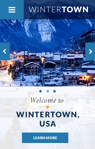Wintertown Theme Homepage Mobile Preview